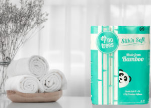 package of bamboo toilet paper on counter