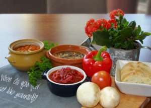 Legh's Soups in bowls